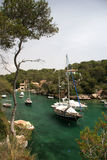 Cala Figuera. Boats in the bay of Cala Figuera Stock Images