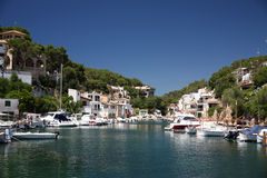 Cala Figuera. Beautiful fishermen village Cala Figuera in East coast of Mallorca, Spain Royalty Free Stock Photos