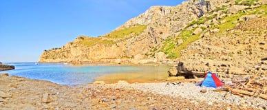 Cala Figuera beach panorama, Majorca, Spain Royalty Free Stock Photo
