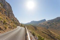 Cala Figuera de Formentor, Mallorca - Country road through the m. Cala Figuera de Formentor, Mallorca, Spain - Country road through the mountains of Formentor Stock Photo