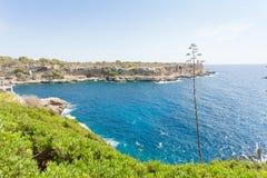 Cala Figuera de Santanyi, Mallorca - Feeling freedom at the coas. Cala Figuera de Santanyi, Mallorca, Spain - Feeling freedom at the coastline of Santanyi Stock Photography