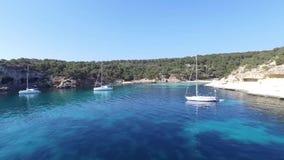 Cala Figuera in der Insel von Mallorca stock footage
