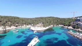 Cala Figuera in der Insel von Mallorca sc04 stock video