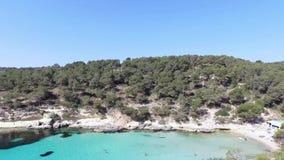 Cala Figuera in der Insel von Mallorca sc03 stock video