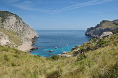 Cala Figuera at Formentor Royalty Free Stock Photography