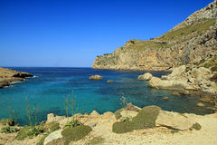 Cala Figuera. On the Formentor peninsula in the northern part of Mallorca stock image