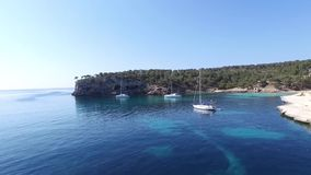 Cala Figuera in het Eiland Mallorca sc05 stock video