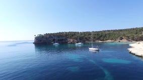 Cala Figuera in the island of Mallorca sc05 stock video