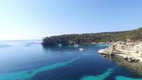 Cala Figuera in the island of Mallorca sc01 stock video
