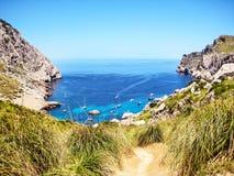 Cala Figuera, Majorca Photographie stock