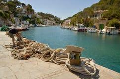 CALA FIGUERA, MALLORCA. BALEARIC ISLANDS, SPAIN - May 6, 2015: Fisherman village Cala Figuera in Mallorca. Cala Figuera, Balearic islands in Spain. Editorial Royalty Free Stock Images