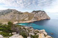 Cala Figuera, Mallorca. Cala Figuera on the Formentor peninsula is one of the most beautiful bays in Mallorca. Not too crowded in summer because the path down to Royalty Free Stock Photo