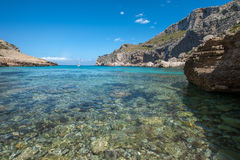 Cala Figuera, Mallorca. A view from the beach at Cala Figuera, Mallorca Royalty Free Stock Photos