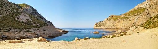 Cala Figuera panorama, Majorca, Spain Stock Images