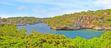 Cala Figuera panorama, Majorca, Spain Stock Image