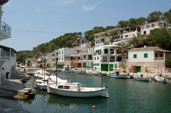 Cala figuera. A pretty harbour in the south of Mallorca, Spain Royalty Free Stock Image