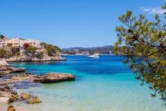 Cala Fornells Mening in Majorca stock fotografie
