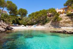 Cala Fornells Mening in Paguera, Majorca royalty-vrije stock foto