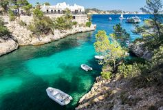 Cala Fornells View in Paguera, Majorca, Spain. Cala Fornells View in Paguera, Majorca Island, Spain royalty free stock photos
