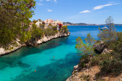Cala Fornells View in Paguera, Majorca Royalty Free Stock Photo