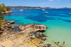 Cala Fornells View in Paguera, Majorca royalty free stock photography