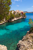 Cala Fornells View in Paguera, Majorca Royalty Free Stock Images