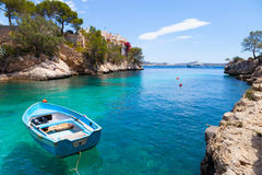 Cala Fornells View in Paguera, Majorca Stock Images