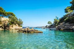Cala Fornells View in Paguera, Majorca, Spain. Cala Fornells View in Paguera, Majorca Island, Spain stock images