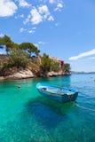 Cala Fornells widok w Paguera, Majorca zdjęcie stock