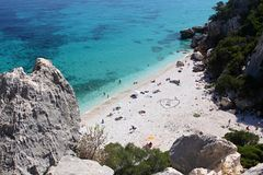 Cala Fuili beach stock photos