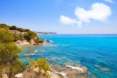 Cala Fustera παραλία σε Benisa Αλικάντε Ισπανία στοκ εικόνες