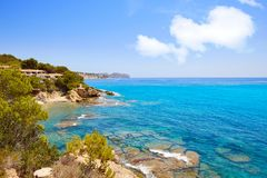 Cala Fustera beach in Benisa Alicante Spain stock photo