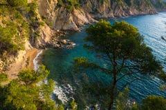 Cala Futadera. Costa Brava, España Foto de archivo libre de regalías