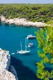 Cala Galdana beach, Island of Menorca, Spain Royalty Free Stock Images