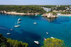 Cala Galdana beach, Island of Menorca, Spain Stock Image