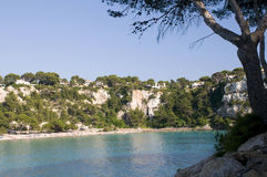 Cala galdana beach and ocean Royalty Free Stock Image