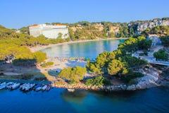 Cala Galdana, isla de Menorca, Baleares, España Fotografía de archivo libre de regalías