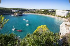 Cala Galdana, Menorca, España Imagen de archivo libre de regalías