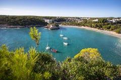 Cala Galdana, Menorca, España Imágenes de archivo libres de regalías