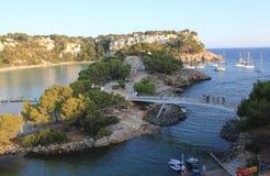Cala Galdana, Menorca Island, Balearic Archipelago, Spain. General view of Cala Galdana, south of Menorca Island, Balearic Archipelago, Mediterranean Sea in a Stock Image