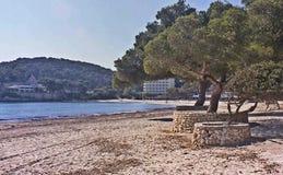 Cala Galdana, Menorca stockbild