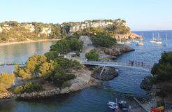Cala Galdana, Menorca wyspa, Balearic archipelag, Hiszpania Obraz Stock