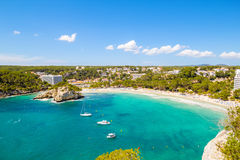 Cala Galdana. One of the most popular beaches at Menorca island, Spain royalty free stock images