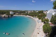 Cala Galdana plaża i zatoka Obraz Stock