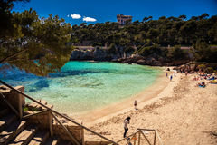 Cala Gat beach in the spring Stock Photo