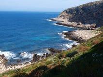 Cala genovese, isola di Levanzo, Sicilia, Italia Immagini Stock