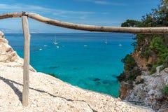 Cala Goloritzé, Sardegna Italia immagini stock libere da diritti