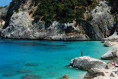Cala goloritzè of Sardinia. Glimpse of one of the most beautiful seaside resorts of Sardinia Stock Photography