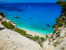 Cala Goloritzé, Sardinia, Italy. Scenic view of the beach of Cala Goloritzé, Sardinia, Italy Royalty Free Stock Images
