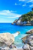 Cala Goloritze海滩, Sardegna 免版税图库摄影
